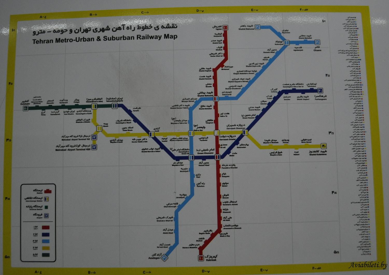 metro map tehran